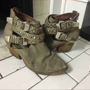 Jeffrey Campbell Everly Studded Buckle Booties